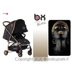 BX Jeans BLACK lightweight stroller, flash folding , breathable full optional, Baciuzzi