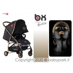 BX Jeans BLACK, silla de paseo súper ligera, cierre rápido, transpirable, full optional, Baciuzzi.