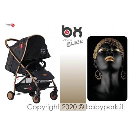 BX Jeans BLACK passeggino super leggero, chiusura Lampo, traspirante full optional, Baciuzzi