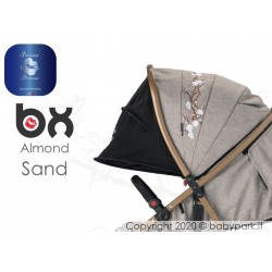 BX ALMOND SAND passeggino super leggero, chiusura Lampo, traspirante full optional, Baciuzzi