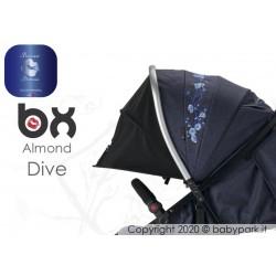 BX ALMOND DIVE passeggino super leggero, chiusura Lampo, traspirante full optional, Baciuzzi