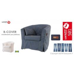 B-COVER JEANS BLUE - funda de sillón IKEA *BACIUZZI*