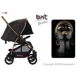BXT JEANS BLACK - WITH BIG WHEELS lightweight stroller, flash folding , breathable full optional, Baciuzzi