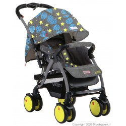 Reversible Baby stroller B8.8 Star Gray, Breathable ● BACIUZZI ●