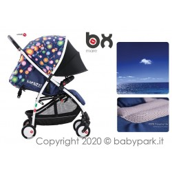 BX Mare lightweight stroller, Lightning closing , breathable full optional