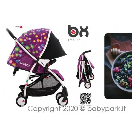 BX Prugna lightweight stroller, Lightning closing , breathable full optional