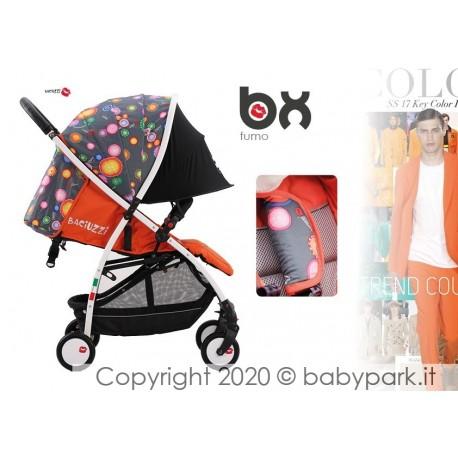 BX Fumo lightweight stroller, Lightning closing , breathable full optional