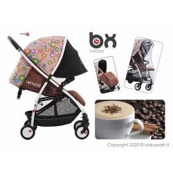 BX Cocoa passeggino ultra leggero, chiusura Lampo, traspirante full optional, Baciuzzi