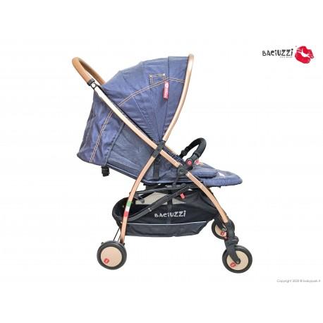 BX TOP Jeans passeggino ultra leggero, chiusura Lampo, traspirante full optional, Baciuzzi