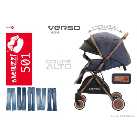 Reversible Baby stroller B8.8 Poule white, Breathable ● BACIUZZI ●