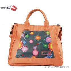 Bolso Fumo/Orange 7230 ● BACIUZZI ●