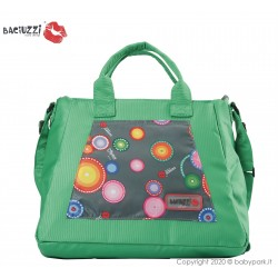 Mama bag Fumo/Green 7230  ● BACIUZZI ●